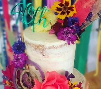 August edible flowers & floral cakes