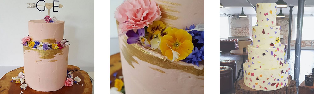 Our edible flowers used by Yummy Little Cakes