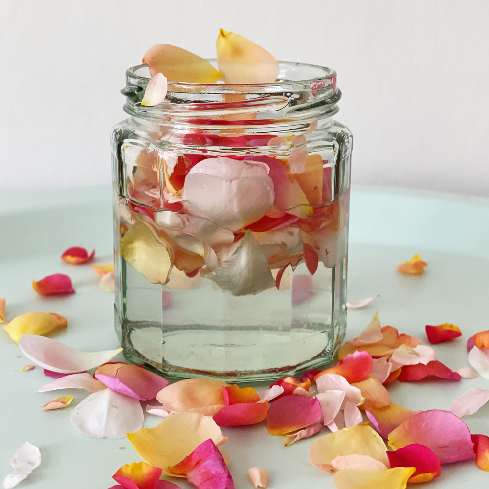 Rose infused coconut oil