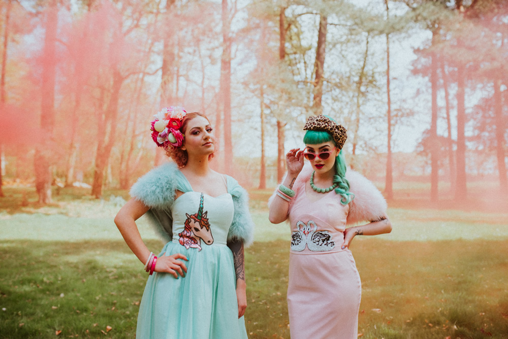 Retro brides at Ollerton Pumping House